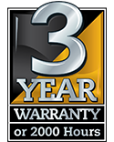 3 Year Commercial Warranty